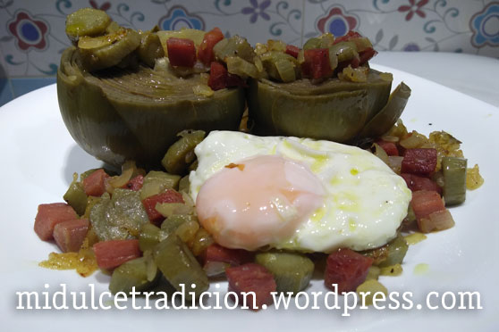alcachofas-con-huevo
